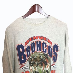 Denver Broncos 1997 White Sweatshirt Size XL